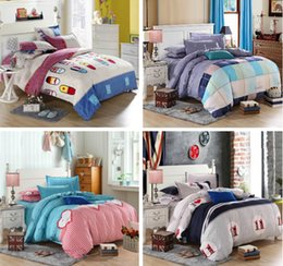 kids animal quilt covers 2020 - kids boy girl high quality 3 4 pcs cotton bedding set Bed bed Sheet Quilt Duvet Covers PillowCase Bedclothes Bed Linen c