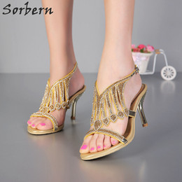 open toe flats wedding NZ - Sorbern Crystal Wedding Shoes Women Sandals Sexy Ladies Party Shoes Peep Toe Buckle Strap Hot Sale Rhinestone Bridal Accessories Shoes