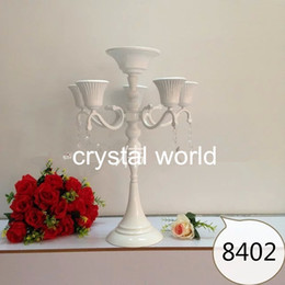 Wholesale Crystal Candle Stand Canada - wedding decoration,home decor , candle holders,456 crystal candle holder , free shipping,wedding candlestick,