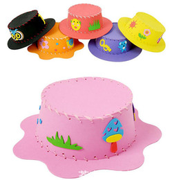 $enCountryForm.capitalKeyWord Canada - DIY EVA Puzzle Hat Caps for Children Baby Self-adhesive Handmade 3D Eva Carton Craft Kits Education Kid Toy
