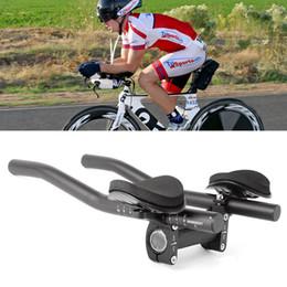 Discount aero bar bike - Wholesale-Bike Cycle Clip On Triathlon Bars Clip On Tri Bars For Road Bikes Aero Position