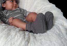 $enCountryForm.capitalKeyWord NZ - Gray Baby boots, handmade crochet booties, infant shoes, newborn-12 months, 0-12M customer