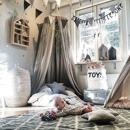 $enCountryForm.capitalKeyWord NZ - Kid Bed Canopy Bed Curtain Round Dome Hanging Mosquito Net Curtain Zanzariera for Baby Kids Reading Playing Home Klamboe
