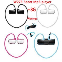 Mp3 Sport Water Canada - High qualtiy !W273 Sports Mp3 player headset 8GB Wireless Sweat-band Walkman Running earphone Mp3 player headphone water-proof free shiping