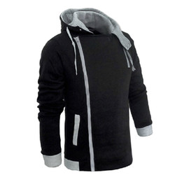 männer assassins creed jacke großhandel-Herren Reißverschluss Herbst Winter Mode Lässig Schlank Plus Größen Strickjacke Assassins Creed Hoodies Sweatshirt Oberbekleidung Jacken Männer Schlank Pullover