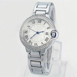 19 chains online shopping - A New Fashion Style Women man Watch Lady silver Diamond wristwatch Steel Bracelet Chain Luxury lover Watch High Quality folding lock