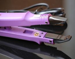 $enCountryForm.capitalKeyWord NZ - purple color FLAT PLATE Fusion Hair Extension Keratin Bonding Tool Heat Iron hair connector