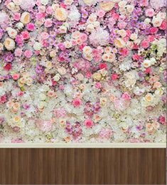 $enCountryForm.capitalKeyWord Canada - wholesale custom wooden floor flowers blossoms wall for wedding photos studio props digital backdrops vinyl photography background backdrop