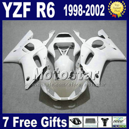 Plastics for 1999 yamaha r6 online shopping - ABS fairing body kit for YAMAHA YZF R6 all white plastic bodywork set YZF600 YZF R6 VB74