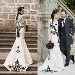 Gothic Corset Mermaid Wedding Dresses Australia | New Featured ...