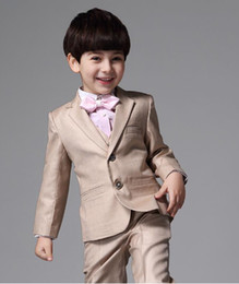 Ivory Children Suit NZ - spring suit flower boy dresses of boy children small suit wear casual small suits 3 pieces of jacket + pants + vest custom made