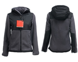 Ladies softsheLL jacket online shopping - Hot Sale North Womens Soft Fleece Osito Hooded Jackets Outdoor Casual Sports Warm Windproof Ladies Down Coats Mens Kids SoftShell Suits