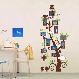 Photo Frame Tree Decal Canada - Family Picture Photo Frame Tree Branches Wall Decal Sticker Art Owl on the Tree Branch Wall Decal for Kids Nursery Room Decoration Art Decor