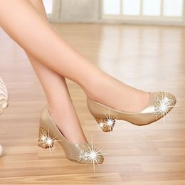 $enCountryForm.capitalKeyWord NZ - 2016 new spring shoes leather head with slope with sequins shallow mouth spell color thick with Bow Shoes