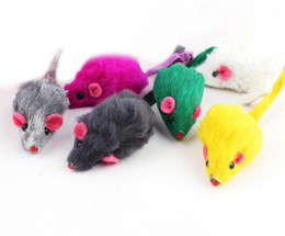 toys for pet rabbits NZ - Rabbit Fur False Mouse Pet Cat Toys Mini Funny Playing Toys For Cats Kitten G1047