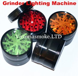 $enCountryForm.capitalKeyWord NZ - Grinder Lighting Machine CNC 4-Layer Herbal Grinders 63mm Aluminium Alloy Clear Tooth filter net Sharpstone dry herb vaporizer pen vapor