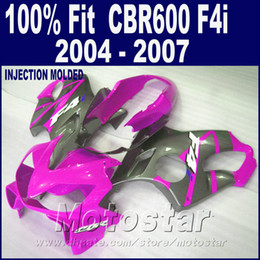 F4i Fairings Australia - ABS RED Injection molding for HONDA CBR 600 F4i fairings 2004 2005 2006 2007 fairing kits 04 05 06 07 motorcycle +7Gifts