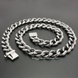 "Necklaces Rockers Canada - 18"" ~ 36"" 316L Stainless Steel Cool Mens Biker Rocker Necklace Chain 5C016N"