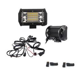 Wholesale Trailer Lights Australia - 5INCH 72W LED WORK LIGHT BAR FLOOD BEAM LED BAR LIGHT 12V 24V FOR CAR TRUCK SUV BOAT ATV 4X4 4WD TRAILER OFFRORD