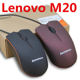 usb 3d optical mouse Canada - Lenovo M20 USB Optical Mouse Mini 3D Wired Gaming Manufacturer Mice With Retail Box For Computer Laptop Notebook