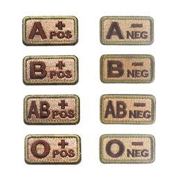 Broderie Patch Blood Type Patches Extérieurs Tactique Brassard Crochet Boucle À Coudre Appliques Cap Sac Badge Badges