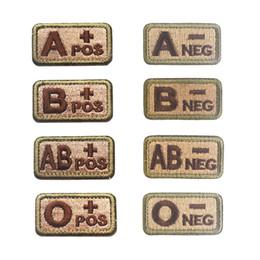 Stickerei Patch Blutgruppe Outdoor Patches Taktische Armband Haken Schleife Nähen Appliques Cap Bag Abzeichen