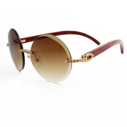Brand Designer Sunglasses Diamonds Plated Gold Wood arms Rimless Mens Designer Sunglasses for Women With Box  sc 1 st  DHgate.com & Wood Plate Frames NZ | Buy New Wood Plate Frames Online from Best ...