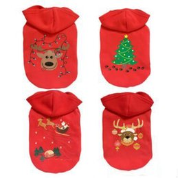 Wholesale santa costume female for sale – halloween Christmas Dog Hoodies Sweaters Santa Pet Clothes Fall Winter Coat Clothes for Dog Hooded Sweatshirts Pet Clothing Pets Supplies Top Quality