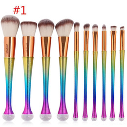 $enCountryForm.capitalKeyWord Australia - Makeup Brushes 1Set=10pcs Kit colourful Beautiful Professional make Up brush Tools by DHL free shipping dhl