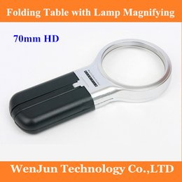 hand hold magnifier Australia - FreeShipping With lamp folding table 70 mm old man reading a magnifying glass LED hand-held magnifier order<$18no track