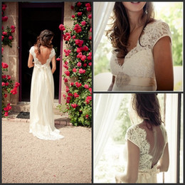 bohemian wedding dresses v neck 2016 bride dress low back bridal gowns country style bride dress girl cap sleeveless lace beaded crystal shj