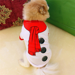 Discount chihuahua christmas clothes - Spring Summer Autumn Clothes Product Supply Dog Shirt Attire for Small Dogs Chihuahua Snowman Christmas Pattern Puppy Su