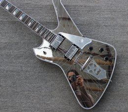abalone inlays for guitars 2019 - Rare Crack Mirror Wash Iceman Paul Stanley Signature Electric Guitar Star Shape Mirror Tailpiece Mirror Pickguard Abalon