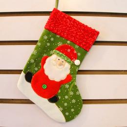 $enCountryForm.capitalKeyWord Australia - 2015 Thanksgivin 10pcs lot Christmas Decorations Gifts Santa Snowman Deer Stocking Xmas Home Decorations 26cm Hight Best Gifts for children