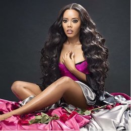 $enCountryForm.capitalKeyWord Canada - Body Wave Human Hair Wigs for Black Women Middle Part Lace Front Wigs Peruvian Human Hair Natural Color Bellahair