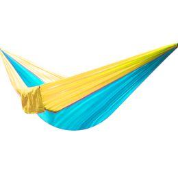 Parachute nylon fabric for hammocks online shopping - 14 Colors Camping Hammock Portable Nylon Single Person Hammock cm Parachute Parachute Fabric Hammock For Travel Hiking Backpacking