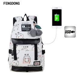 Cute sChool bags for teenage girls online shopping - Fengdong Cute Lightweight Canvas Bookbags Water Resistant School Backpacks Most Durable School Bag for Teenage Girls And Kids