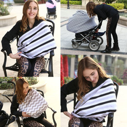 Scarf Shops Australia - New Creative Baby Car Seat Cover Canopy Nursing Cover Multi-Use Stretchy Infinity Scarf Breastfeeding Shopping Cart Cover Top Quality