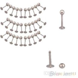 Lip Tragus Bar Canada - 10x Stainless Steel Trendy Tragus Ball Labret Lip Chin Ring Bar Body Piercing Studs 008S