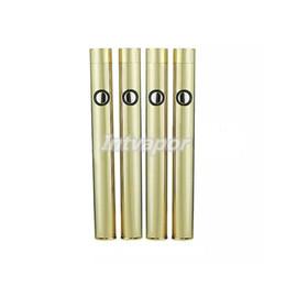 Chinese  Gold Slim vape battery button push 350mah battery for bud o pen cartridge 510 oil vaporizer cartridge e cig battery for vape pen manufacturers