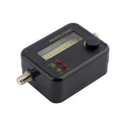 Опт Пластичный черный Миниый тестер метра искателя сигнала дисплея LCD Цифров спутниковый с превосходной чувствительностью