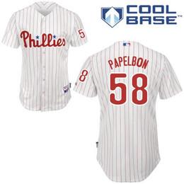 d29b2bfd7 2016 Philadelphia Phillies 58 Jonathan Papelbon White Cool Base Baseball  Jerseys