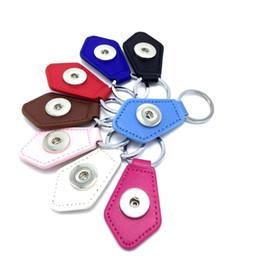 $enCountryForm.capitalKeyWord Canada - Noosa PU Leather Snap Keychain Jewelry 18mm Snap button key chain Fit 18mm 20mm Snap jewelry Keyring