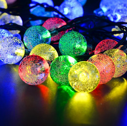 Ball Yard Canada - Solar Chrismas Decorative Light 20ft 30 LED Waterproof Crystal Ball Solar String Light Solar Powered Globe Fairy String Light Yard Garden
