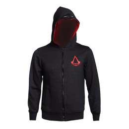 Assassins Creed New Hoodie Pas Cher-Creed Hoodie Anime Conner Kenway manteau à capuchon Veste New Assassin Cosplay Costume Halloween cadeau de Noël
