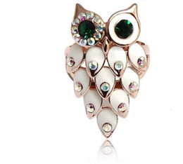 crystal owl women's ring all size (xysppfh)