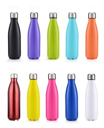 StainleSS double wall water bottle online shopping - 500ml Stainless Steel Cola Bottle Beer Mug Insulated Double Wall Vacuum Water Bottle Creative Coke cup