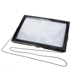 a4 full page large magnifier 3x foldable magnifying glass loupe hands free for reading with 4 led lights wholesale