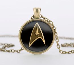 $enCountryForm.capitalKeyWord Canada - Star Trek Command Science Medical or Operations glass pendant movie choker necklace bijouterie summer style movie jewelry