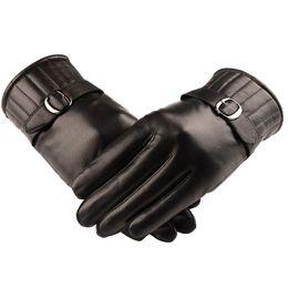 $enCountryForm.capitalKeyWord Australia - Wholesale-Free Shipping Special Offer Men Business Leather Plus Thick Velvet Warm Winter Sheepskin Gloves